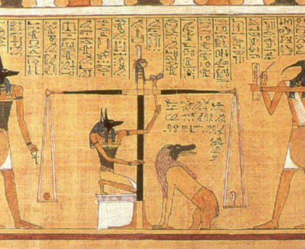 weighing of the heart with the demon Ammit