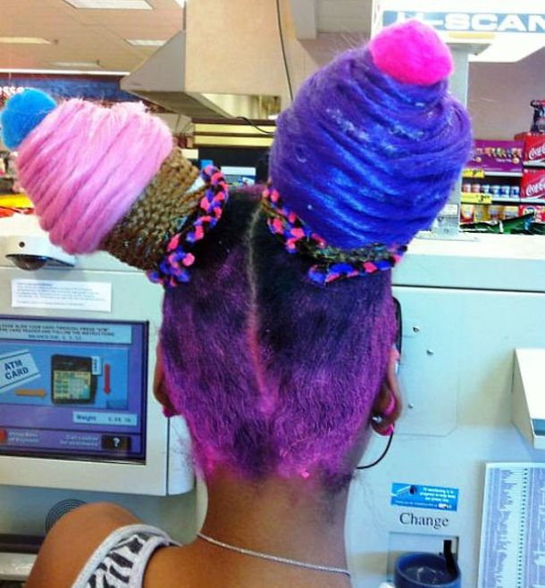 Cup cake hair style