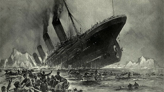 What do you get when you cross the Atlantic with the Titanic?