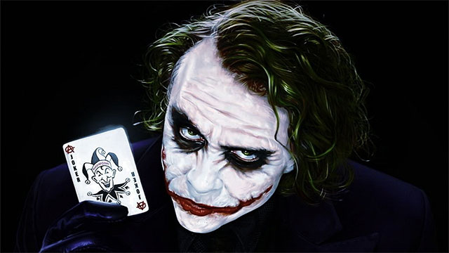 """""""If you're good at something never do it for free."""" - The Joker"""