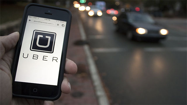 Instead of taking a taxi, you can just jump into a strangers car whenever you want (Uber)