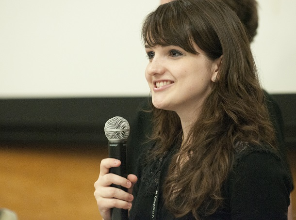 Anna_Chlopecki_speaking_at_student_panel_at_Wikipedia_in_Higher_Education_Summit