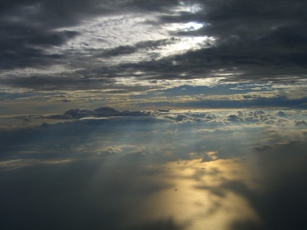 Troposphere from airplane