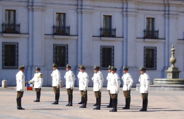 guard mounting in Santiago, Chile