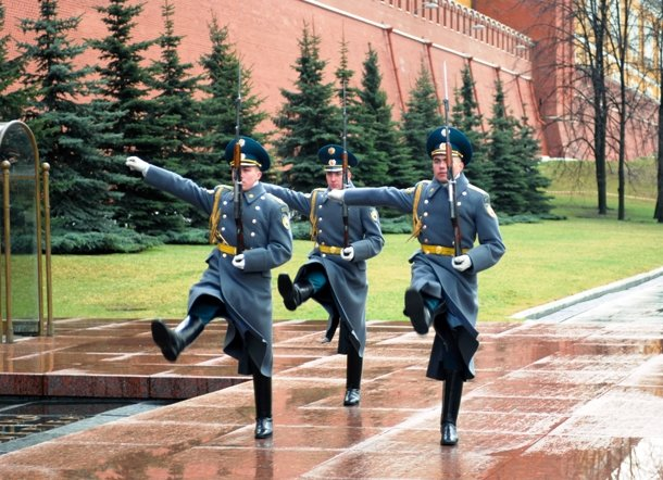 guard mounting in Moscow, Russia