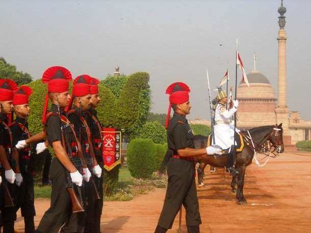 guard mounting in New Delhi, India