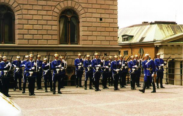 guard mounting in Stockholm, Sweden