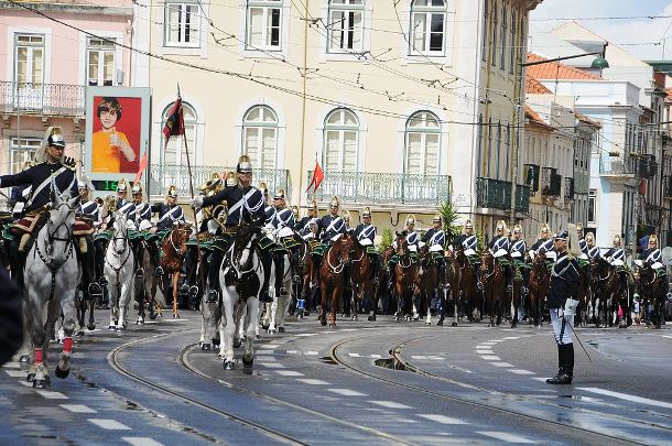 guard mounting in Lisbon, Portugal