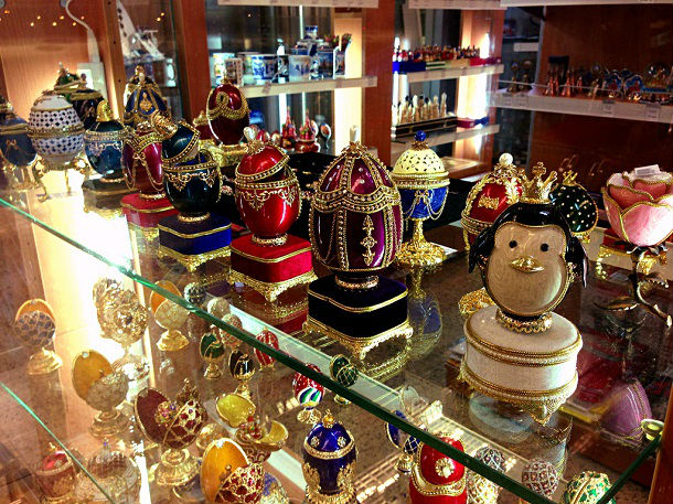 faberge eggs in moscow airport
