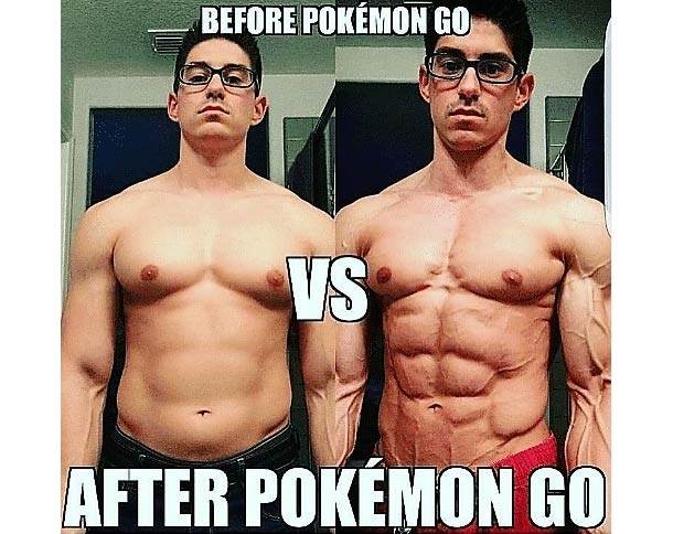 Pokeabs before and after meme