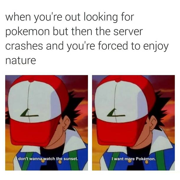 Forced to admire nature meme