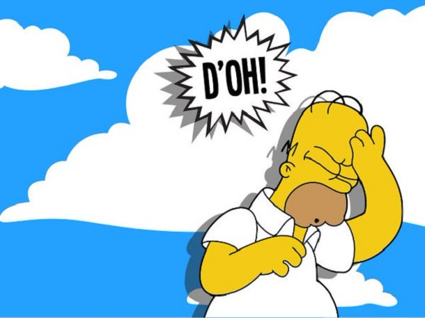homer saying d'oh