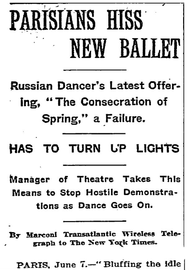 NYT Rite of Spring