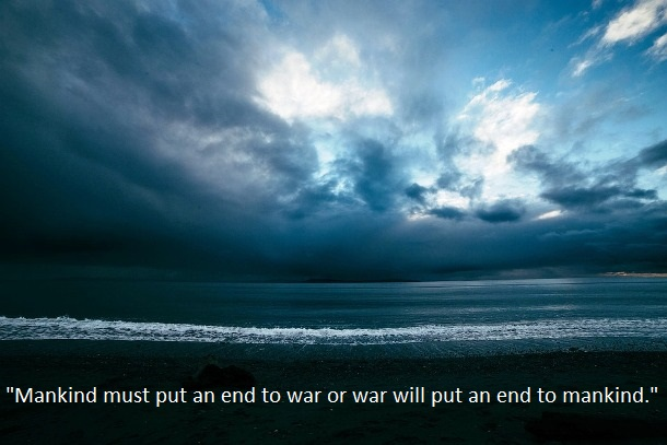 war and mankind