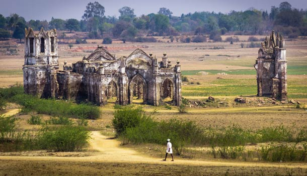 Abandoned church in Hassan, India.