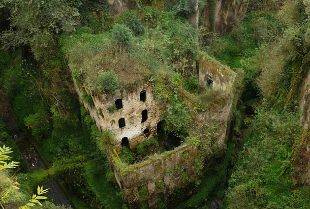 The abandoned Valley of the Mills in Naples, Italy
