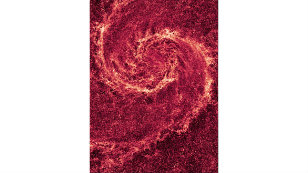Hubble NICMOS Infrared Image of M51