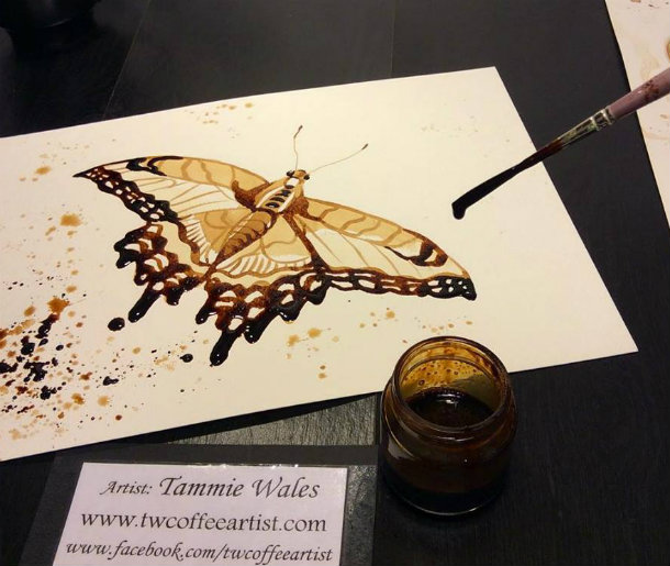 Butterfly-Coffee-Painting