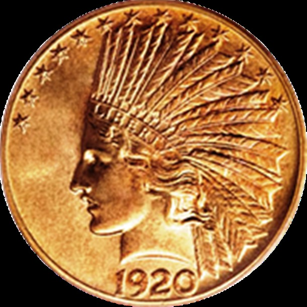 1920 S Indian Head Gold Eagle