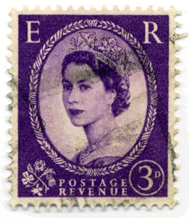 stamp with the Queen