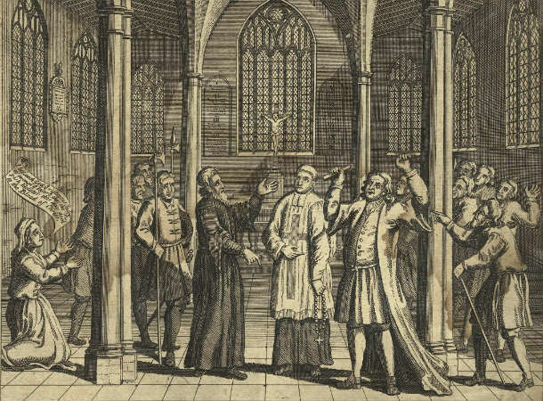 Dr_Taylor_rebuking_a_Popish_Priest_who_was_about_to_say_Mass_in_Hadley_Church_(Thomas_Taylor)_from_NPG