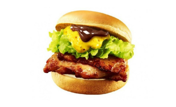 Japanese-Burger-Chain-Lotteria-Releases-Chocolate-and-Honey-Mustard-Chicken-Burger-5