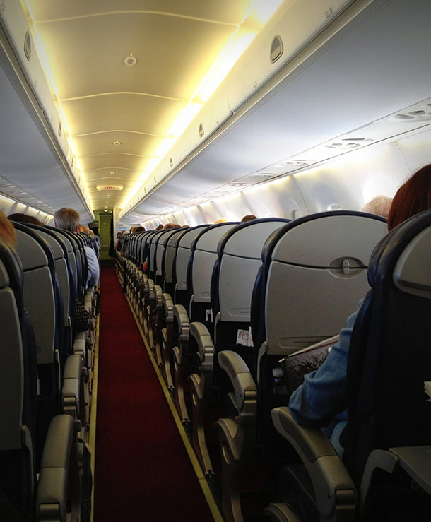 back of the plane