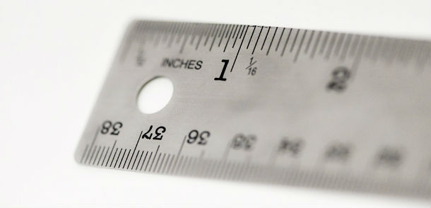 2 inches on ruler