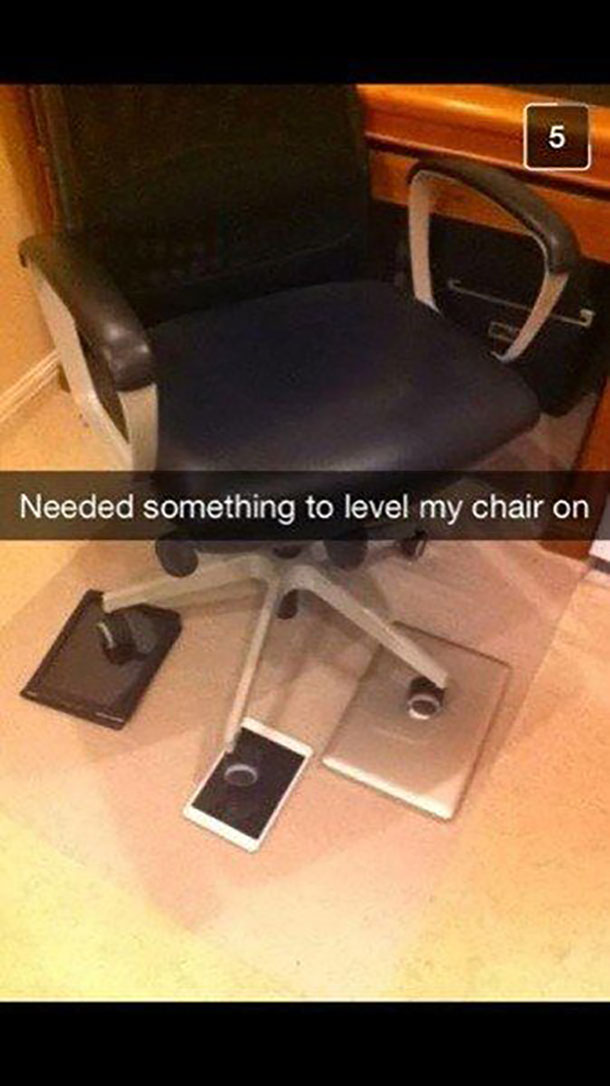 level out the chair