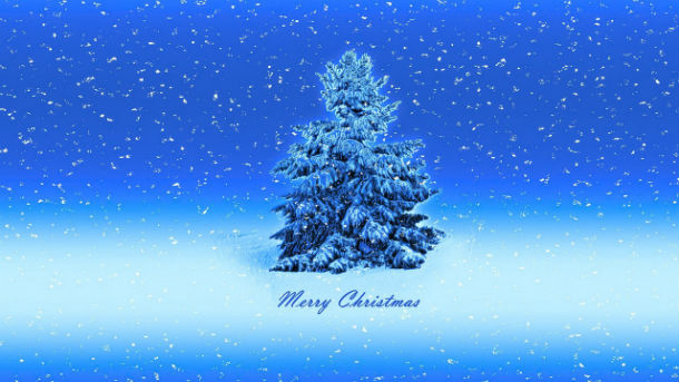 merry christmas card front