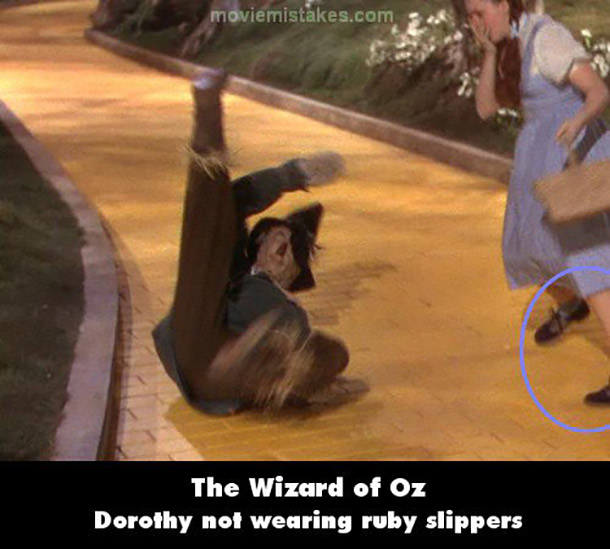dorothy not wearing slippers