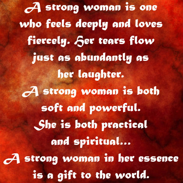 a strong woman is