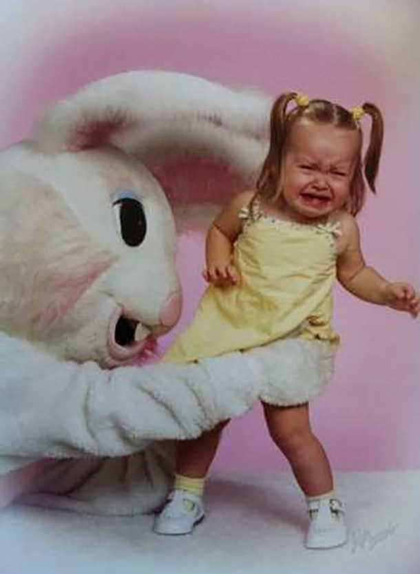 bunny scared