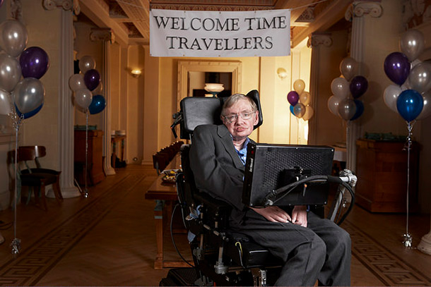 hawking time travel party
