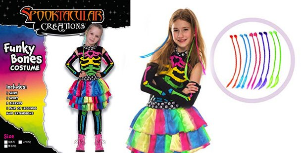Colorful girls costume