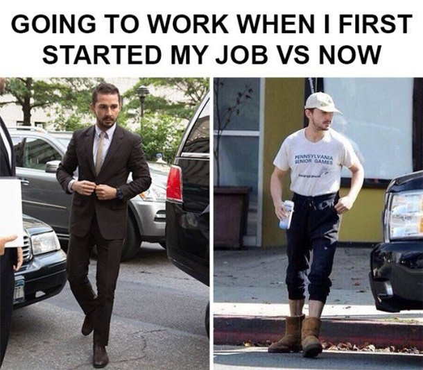 job then and now